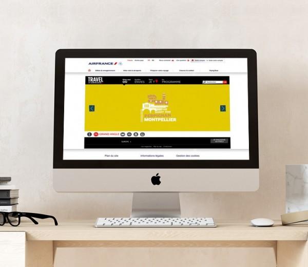 Site vitrine web pour air france