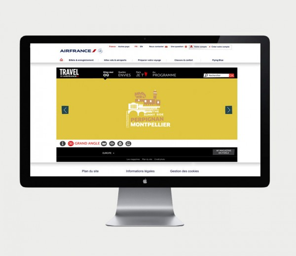 Site vitrine web pour air france