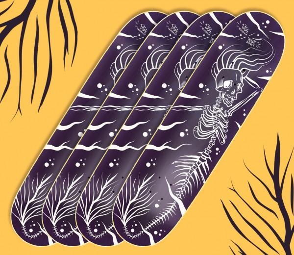 illustration pour Léonard Titus Skateboard