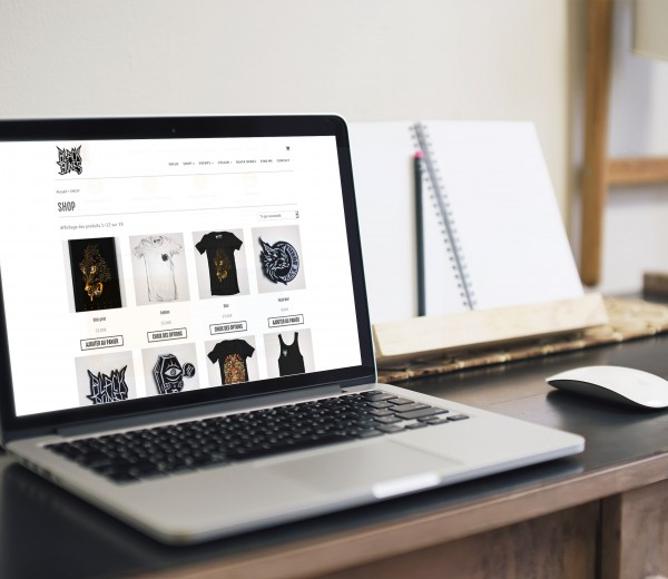 site e-commerce de tee-shirt