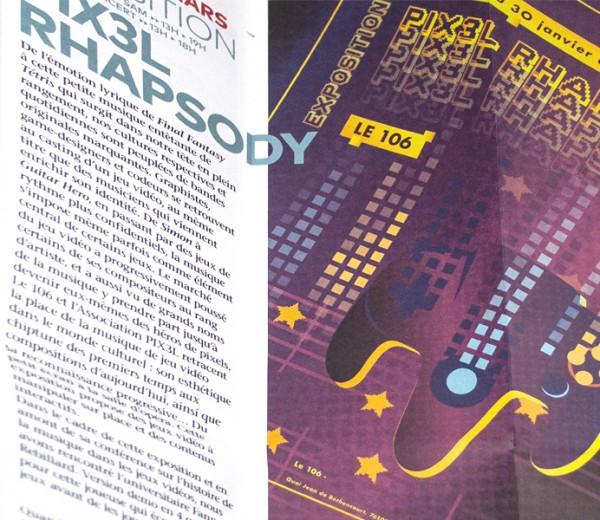Affiche événement PIX3L RHAPSODY le 106 Rouen